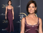 Katie Holmes In Zac Posen - Brooks Brothers Bicentennial Celebration
