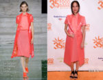 Kelsey Asbille In Salvatore Ferragamo - Food Bank For New York City's Can Do Awards Dinner