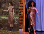Kerry Washington In Erdem - The Tonight Show Starring Jimmy Fallon