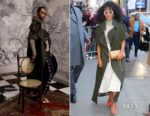 Kerry Washington In Johanna Ortiz, Fendi, Oscar de la Renta & Proenza Schouler - Good Morning America