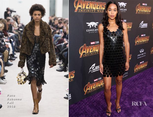 Laura Harrier In Paco Rabanne - 'Avengers: Infinity War' LA Premiere