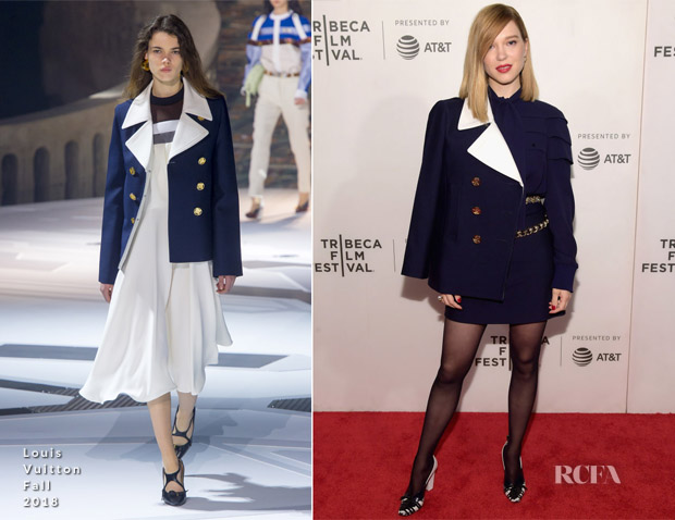 Lea Seydoux In Louis Vuitton - 'Zoe' Tribeca Film Festival Premiere
