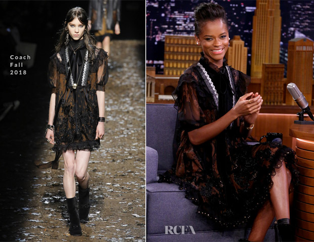 Letitia Wright In Coach - The Tonight Show Starring Jimmy Fallon
