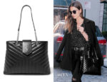 Lily Aldridge's Saint Laurent Loulou Bag
