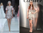 Lily Collins In Ralph & Russo Couture -  'Bold & Fearless' Santos de Cartier Watch Launch
