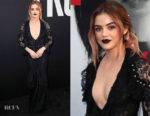 Lucy Hale In Monique Lhuillier - 'Truth Or Dare' LA Premiere