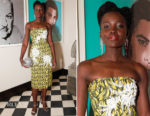 Lupita Nyong'o In Prada - Micaela Erlanger's 'How to Accessorize' Book Dinner Celebration