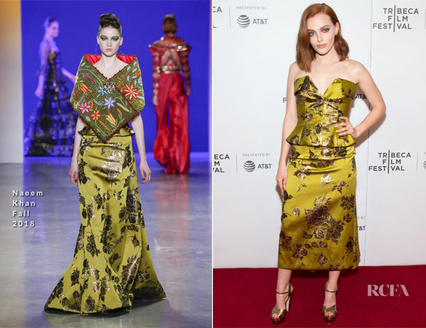 Madeline Brewer In Naeem Khan - 'Braid' Tribeca Film Festival Premiere