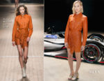 Margot Robbie In Isabel Marant - Nissan Formula E Launch Tour