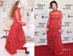 Mary Elizabeth Winstead In Valentino - 'All About Nina' Tribeca Film Festival Premiere