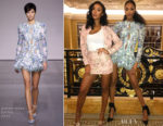 Maya Jama In Topshop & Jourdan Dunn In Zimmermann - Maybelline's Fit Me Foundation Dinner Party