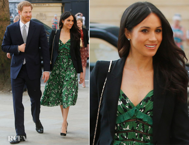 Meghan Markle In Self-Portrait & Stella McCartney - Invictus Games Reception & The Queen's Birthday Party