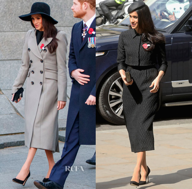 Meghan Markle In Smythe & Emilia Wickstead - Anzac Day Services