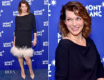 Milla Jovovich In Prada - Montblanc Meisterstuck Le Petit Prince Event