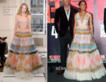 Naomie Harris In Schiaparelli Couture & Rosie Assoulin - 'Rampage' Shanghai Premiere & LA Press Conference