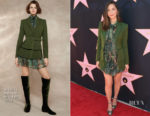 Olivia Munn In Alberta Ferretti - Eva Longoria's Star On The Hollywood Walk Of Fame Unveiling