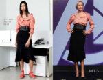 Pom Klementieff In Altuzarra & Bottega Veneta - Avengers Infinity War' Seoul Press Conference & Premiere