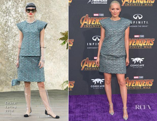 Pom Klementieff In Chanel - 'Avengers: Infinity War' LA Premiere