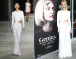 Poppy Delevingne In Cushnie et Ochs - 'Genius: Picasso' Dinner and Conversation