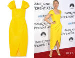 Renee Zellweger's Carolina Herrera Silk-Faille Dress