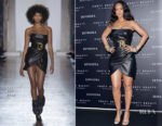 Rihanna In Versace - 'Fenty' by Rihanna Makeup Launch
