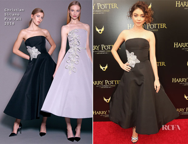 Sarah Hyland In Christian Siriano - 'Harry Potter And The Cursed Child' Opening Day