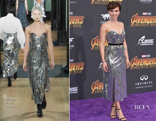Scarlett Johansson In Erdem -  'Avengers: Infinity War' LA Premiere