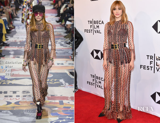 Suki Waterhouse In Christian Dior - 'Jonathan' Tribeca Film Festival Screening