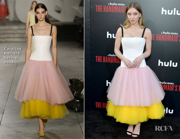 Sydney Sweeney In Carolina Herrera - 'The Handmaid's Tale' Season 2 Premiere