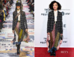 Tessa Thompson In Christian Dior - 'Little Woods' Tribeca Film Festival Premiere
