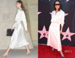 Victoria Beckham In Victoria Beckham - Eva Longoria's Star On The Hollywood Walk Of Fame Unveiling