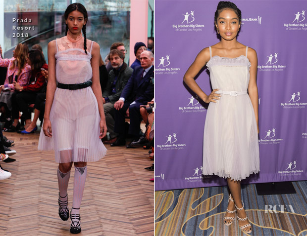 Yara Shahidi In Prada -  'Accessories for Success' Scholarship Luncheon