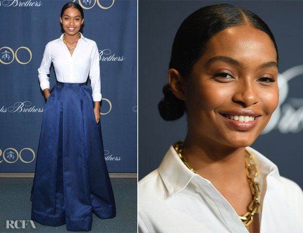 Yara Shahidi In Zac Posen - Brooks Brothers Bicentennial Celebration