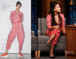 Zazie Beetz In Stella McCartney - Late Night with Seth Meyers