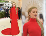 Amber Heard In Carolina Herrera - 2018 Met Gala