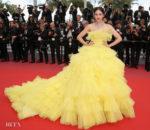 Araya A. Hargate In Giambattista Valli Haute Couture - 'Sink Or Swim (Le Grand Bain)' Cannes Film Festival Premiere