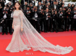 Araya A. Hargate In Ralph & Russo Couture - 'Sorry Angel (Plaire, Aimer Et Courir Vite)' Cannes Film Festival Premiere
