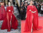 Araya A. Hargate In Zuhair Murad Couture - 'Everybody Knows' Cannes Film Festival Screening