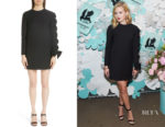 Ava Phillippe's Valentino Very V Lace-Up Sleeve Dress