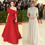 Bee Shaffer In Valentino Couture & Anna Wintour In Chanel Couture - 2018 Met Gala