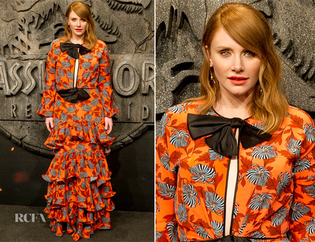 Bryce Dallas Howard In Johanna Ortiz - 'Jurassic World: Fallen Kingdom' Madrid Premiere