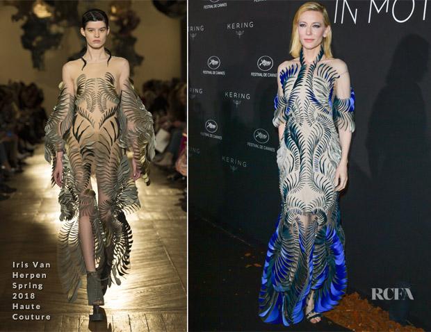 Cate Blanchett In Iris Van Herpen Haute Couture Kering X Cannes Dinner