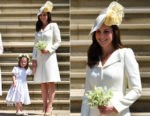Catherine, Duchess of Cambridge In Alexander McQueen - Prince Harry & Meghan Markle's Royal Wedding