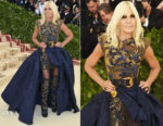 Donatella Versace In Versace - 2018 Met Gala