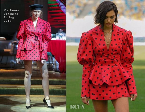 Dua Lipa In Marianna Senchina - Champions League Opening Ceremony Press Day