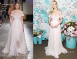 Elle Fanning In Giambattista Valli Haute Couture - Tiffany & Co. Paper Flowers Event And Believe In Dreams Campaign Launch