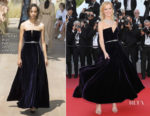 Eva Herzigova In Christian Dior Haute Couture - 'Ash Is The Purest White (Jiang Hu Er Nv) Cannes Film Festival Premiere