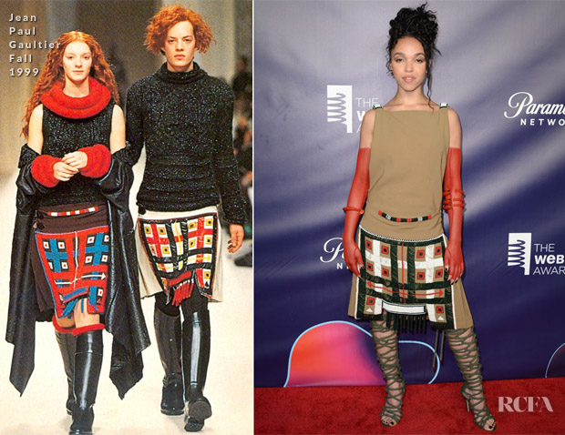 FKA Twigs In Vintage Jean Paul Gaultier -  22nd Annual Webby Awards