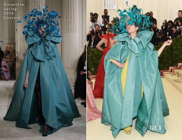 frances mcdormand in valentino couture 2018 met gala red carpet fashion awards. Black Bedroom Furniture Sets. Home Design Ideas