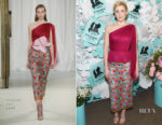 Greta Gerwig In Delpozo - Tiffany & Co. Paper Flowers Event And Believe In Dreams Campaign Launch
